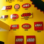 The different branding logos throughout Lego's History
