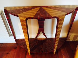 Wood Veneer Console Table by Storm Furniture