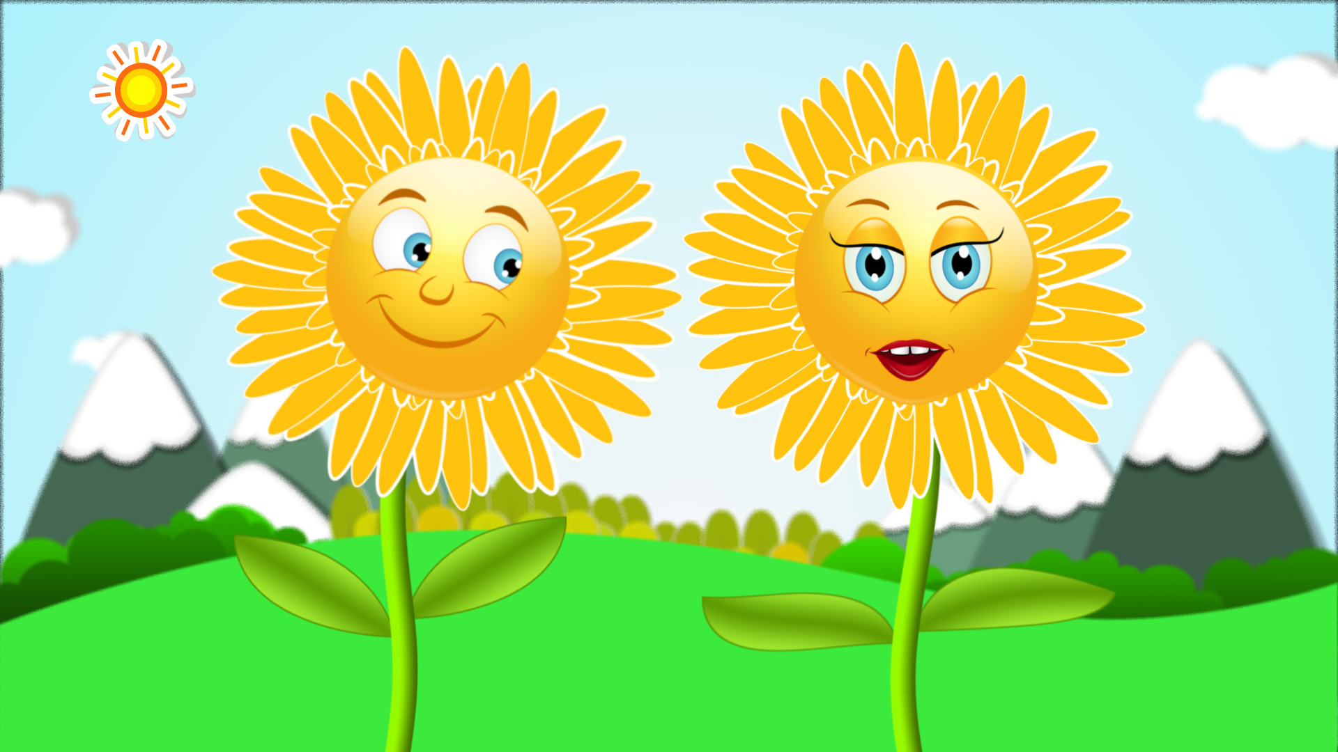 Animated Yellow Gerberas